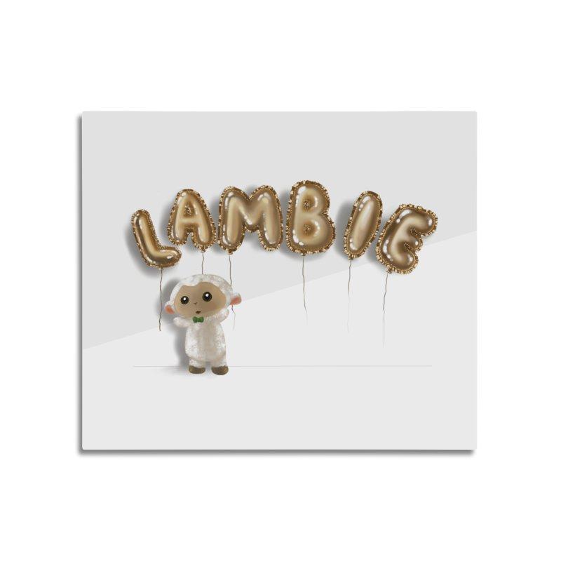 Lambie's Metallic Balloons Home Mounted Acrylic Print by Dino & Panda Artist Shop