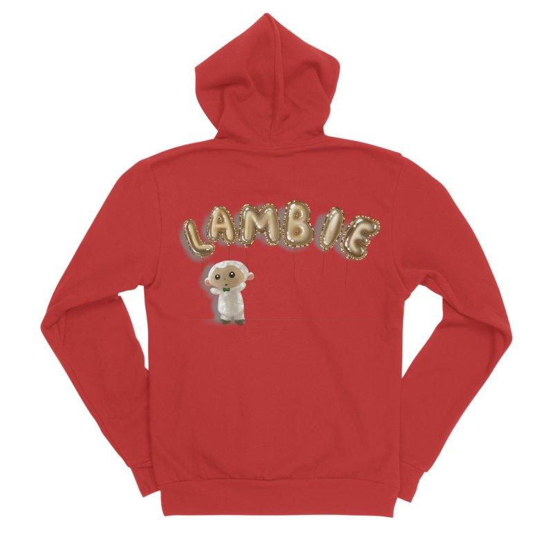 Lambie's Metallic Balloons Men's Zip-Up Hoody by Dino & Panda Artist Shop