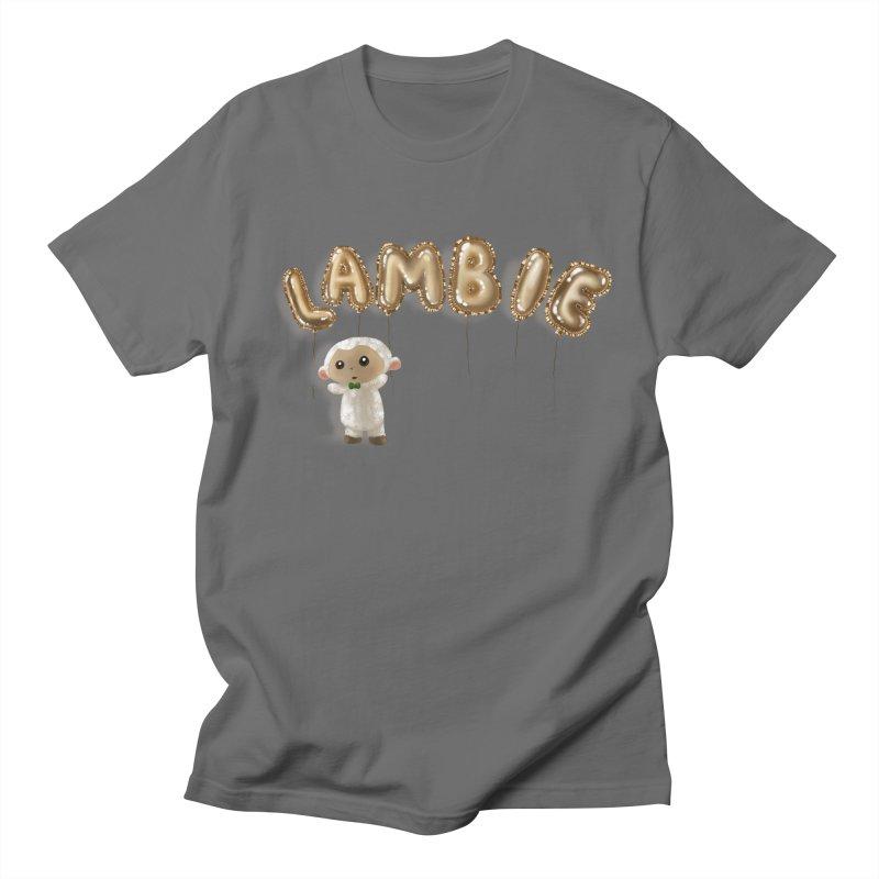 Lambie's Metallic Balloons Men's T-Shirt by Dino & Panda Artist Shop