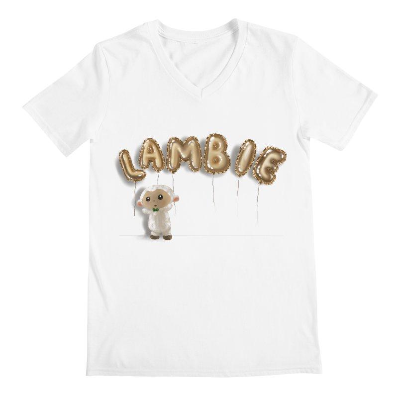 Lambie's Metallic Balloons Men's V-Neck by Dino & Panda Artist Shop