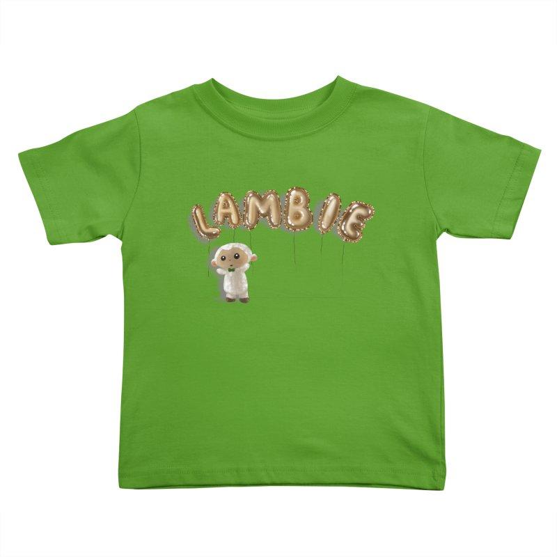 Lambie's Metallic Balloons Kids Toddler T-Shirt by Dino & Panda Artist Shop