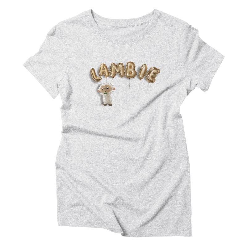 Lambie's Metallic Balloons Women's T-Shirt by Dino & Panda Artist Shop