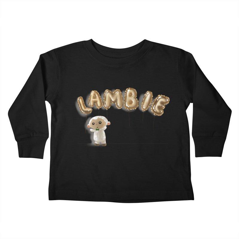 Lambie's Metallic Balloons Kids Toddler Longsleeve T-Shirt by Dino & Panda Artist Shop