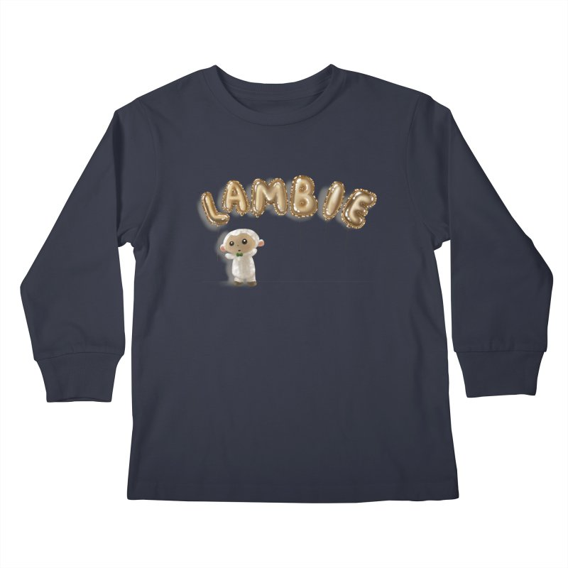 Lambie's Metallic Balloons Kids Longsleeve T-Shirt by Dino & Panda Artist Shop