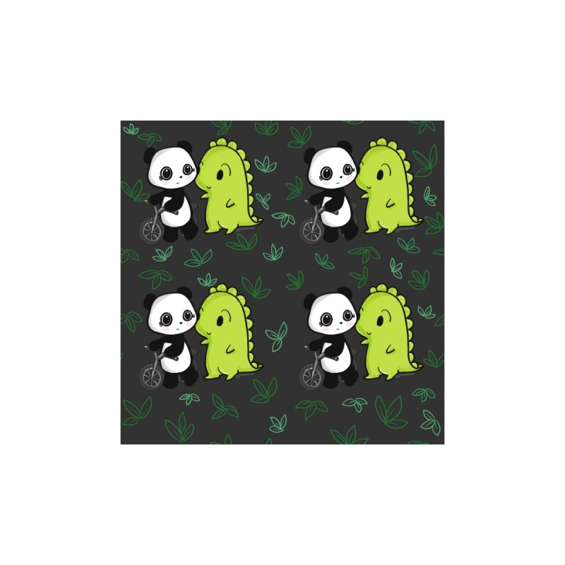 Dino & Panda's Bike Ride (dark gray pattern) Home Shower Curtain by Dino & Panda Artist Shop