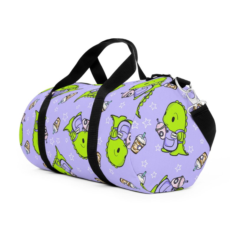 Barista Dino - Seamless Pattern Accessories Bag by Dino & Panda Artist Shop