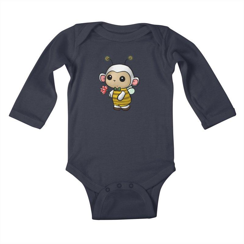 PositiviBee Lambie Kids Baby Longsleeve Bodysuit by Dino & Panda Artist Shop