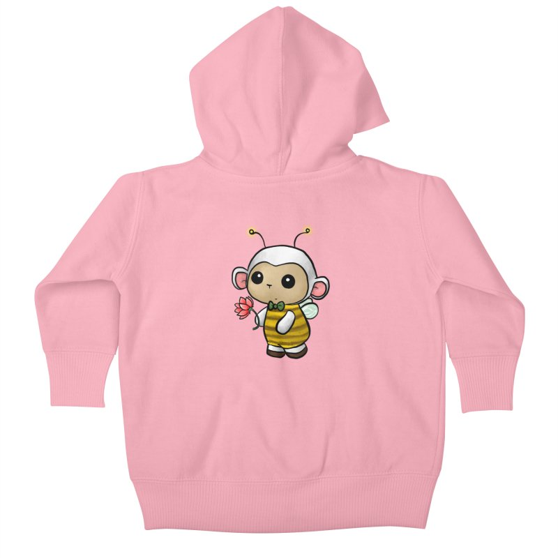 PositiviBee Lambie Kids Baby Zip-Up Hoody by Dino & Panda Artist Shop