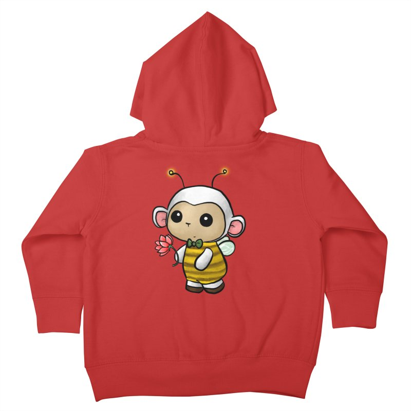 PositiviBee Lambie Kids Toddler Zip-Up Hoody by Dino & Panda Artist Shop