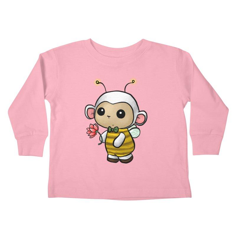 PositiviBee Lambie Kids Toddler Longsleeve T-Shirt by Dino & Panda Artist Shop