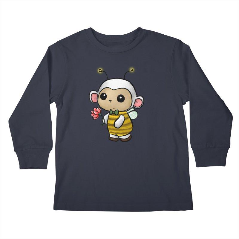 PositiviBee Lambie Kids Longsleeve T-Shirt by Dino & Panda Artist Shop