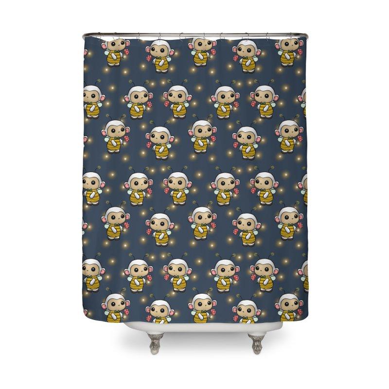 PositiviBee Lambie Home Shower Curtain by Dino & Panda Artist Shop