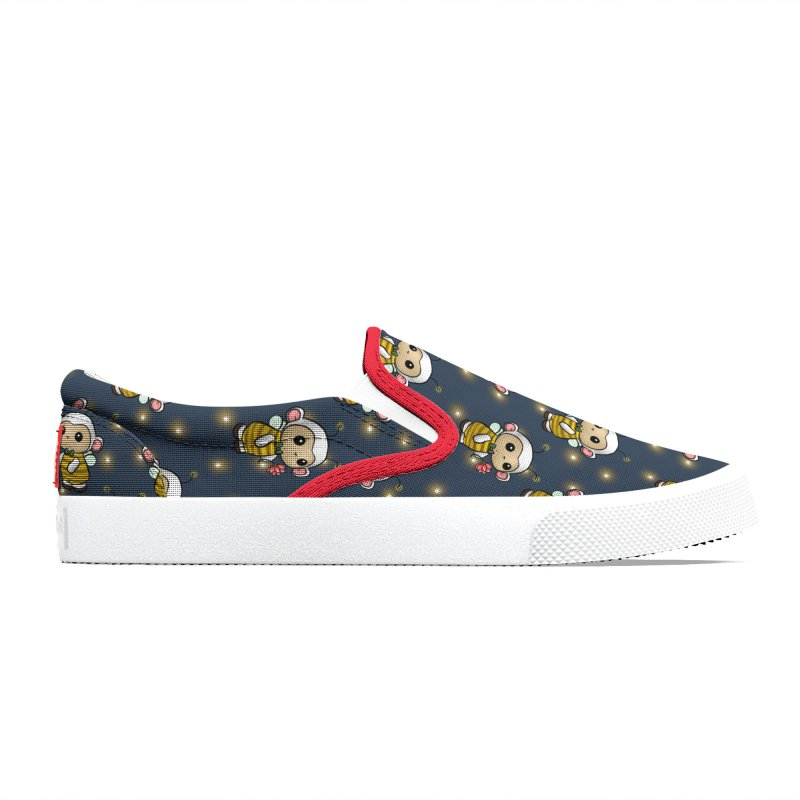 PositiviBee Lambie Men's Shoes by Dino & Panda Artist Shop