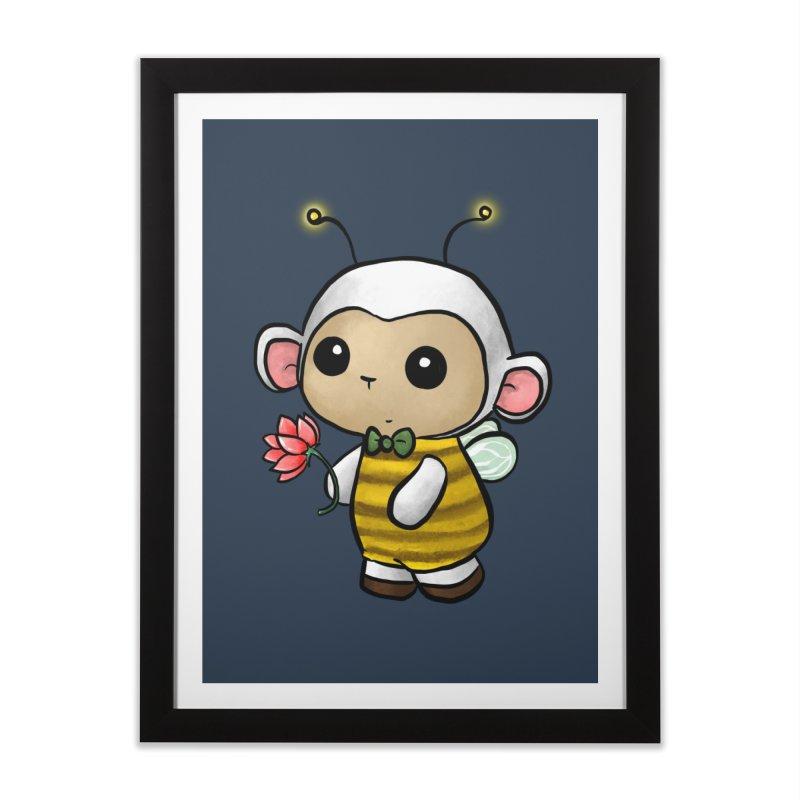 PositiviBee Lambie Home Framed Fine Art Print by Dino & Panda Artist Shop