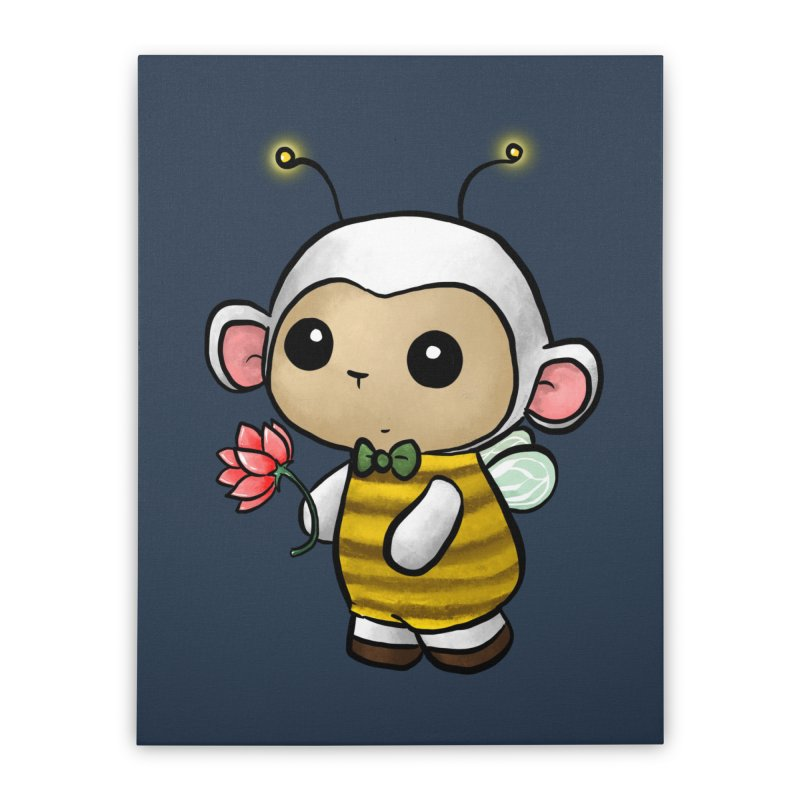 PositiviBee Lambie Home Stretched Canvas by Dino & Panda Artist Shop