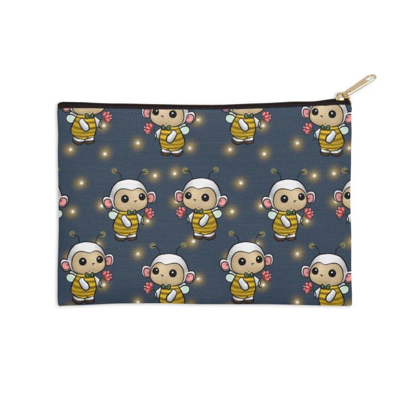 PositiviBee Lambie Accessories Zip Pouch by Dino & Panda Artist Shop