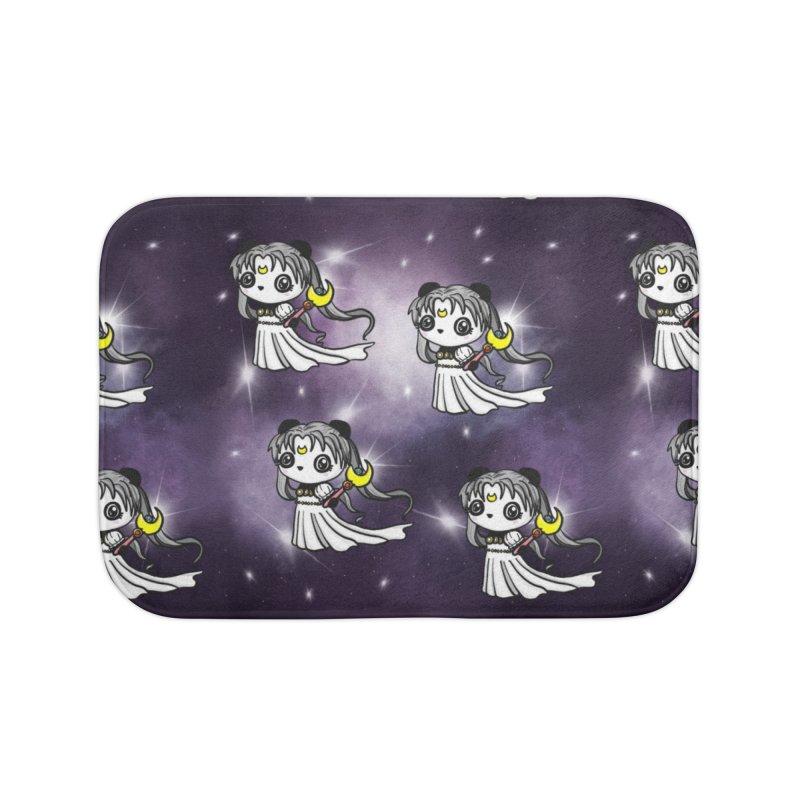Princess Panda Serenity Galaxy Pattern Home Bath Mat by Dino & Panda Artist Shop