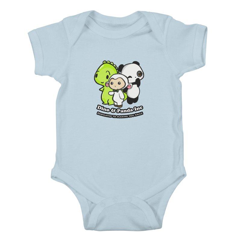 Dino & Panda Inc in Kids Baby Bodysuit Baby Blue by Dino & Panda Inc Artist Shop
