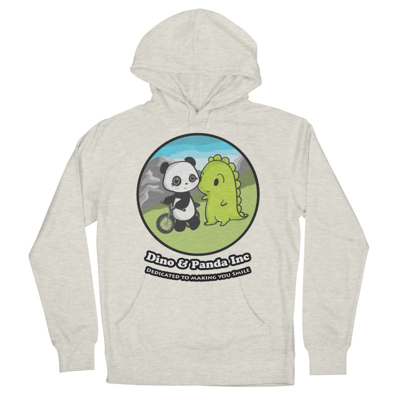 Dino & Panda's Bike Ride Men's French Terry Pullover Hoody by Dino & Panda Inc Artist Shop