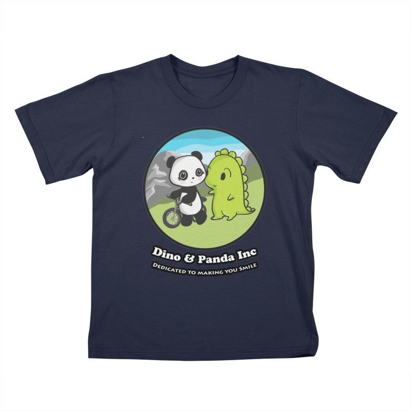 Dino & Panda's Bike Ride Kids Toddler T-Shirt by Dino & Panda Inc Artist Shop
