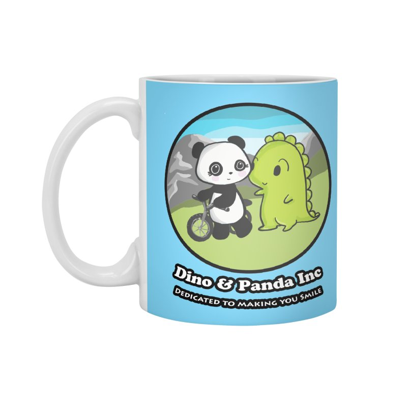 Dino & Panda's Bike Ride Accessories Mug by Dino & Panda Inc Artist Shop