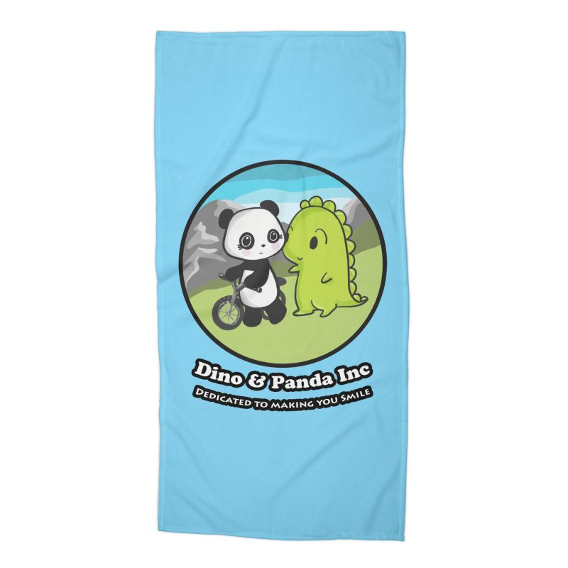 Dino & Panda's Bike Ride Accessories Beach Towel by Dino & Panda Inc Artist Shop