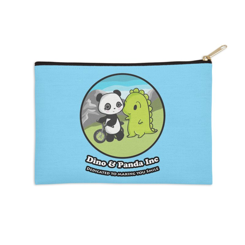 Dino & Panda's Bike Ride Accessories Zip Pouch by Dino & Panda Inc Artist Shop