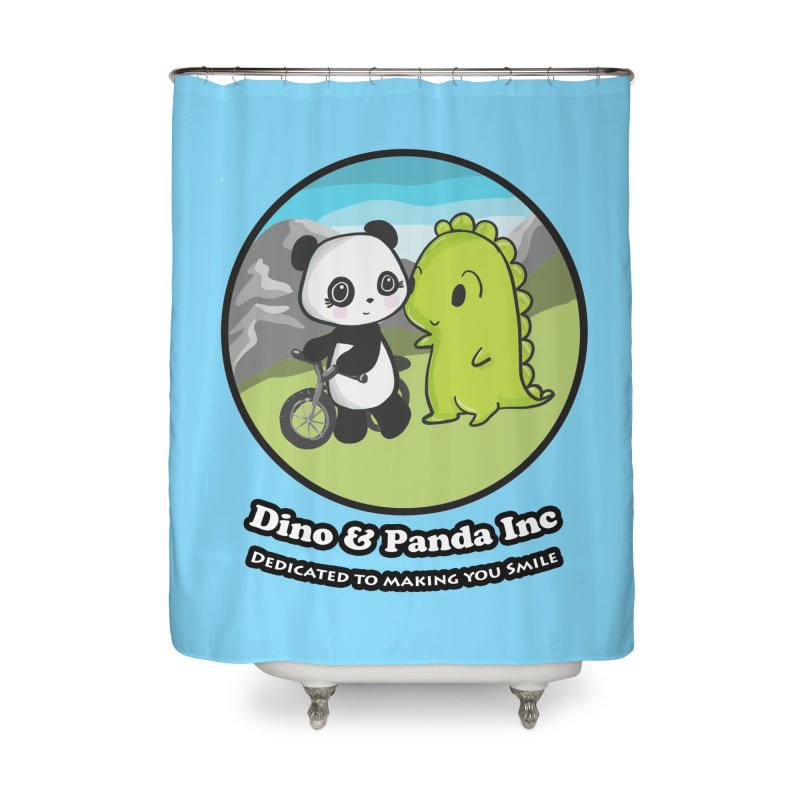 Dino & Panda's Bike Ride Home Shower Curtain by Dino & Panda Inc Artist Shop