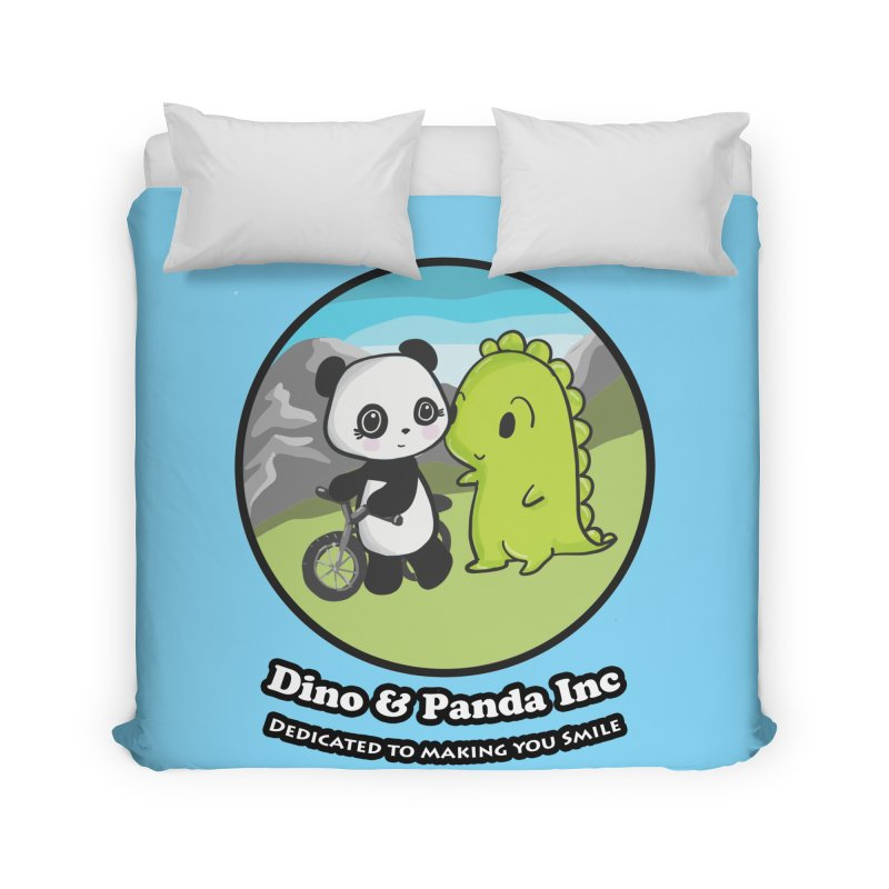 Dino & Panda's Bike Ride Home Duvet by Dino & Panda Inc Artist Shop