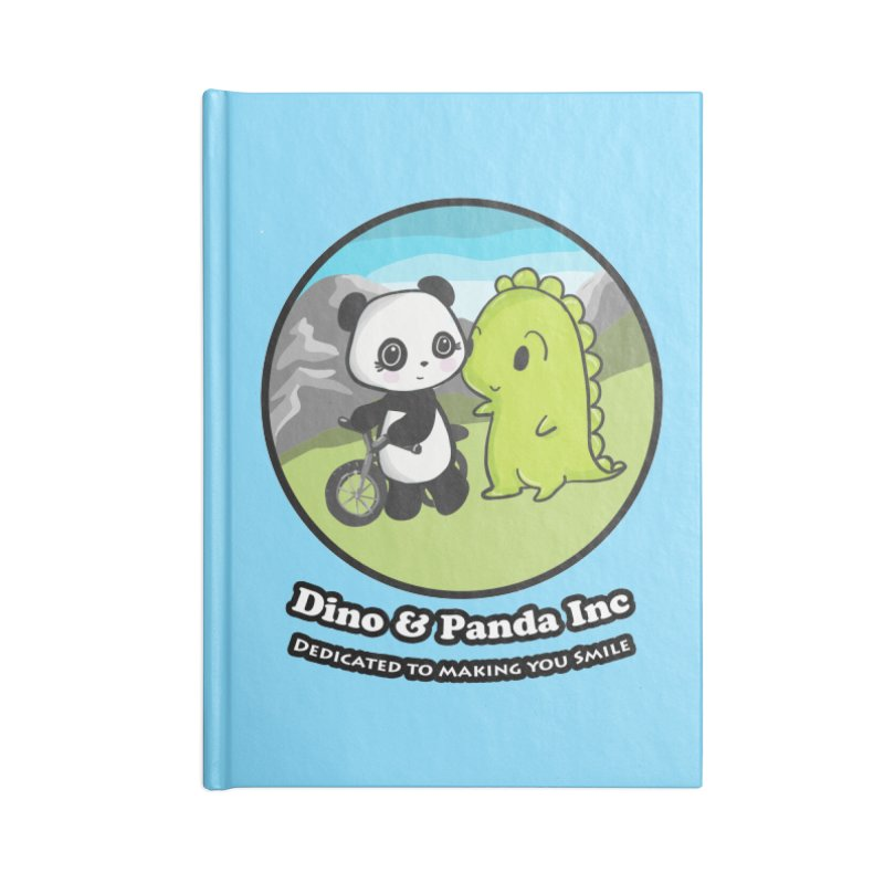 Dino & Panda's Bike Ride Accessories Lined Journal Notebook by Dino & Panda Inc Artist Shop