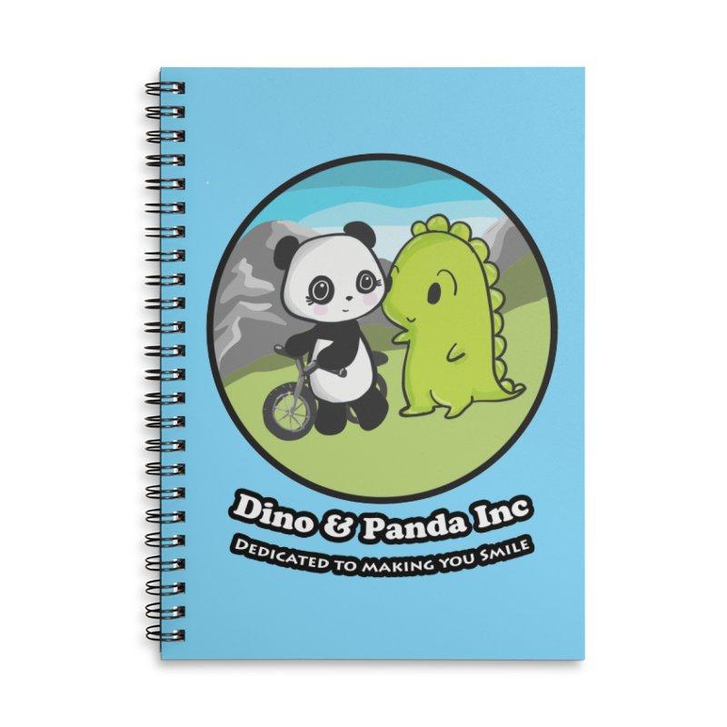 Dino & Panda's Bike Ride Accessories Lined Spiral Notebook by Dino & Panda Inc Artist Shop