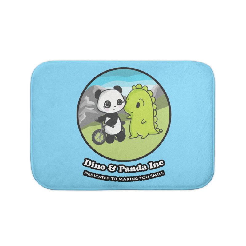 Dino & Panda's Bike Ride Home Bath Mat by Dino & Panda Inc Artist Shop
