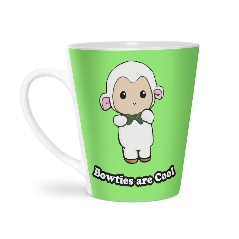 Lambie's Bowtie Accessories Latte Mug by Dino & Panda Inc Artist Shop