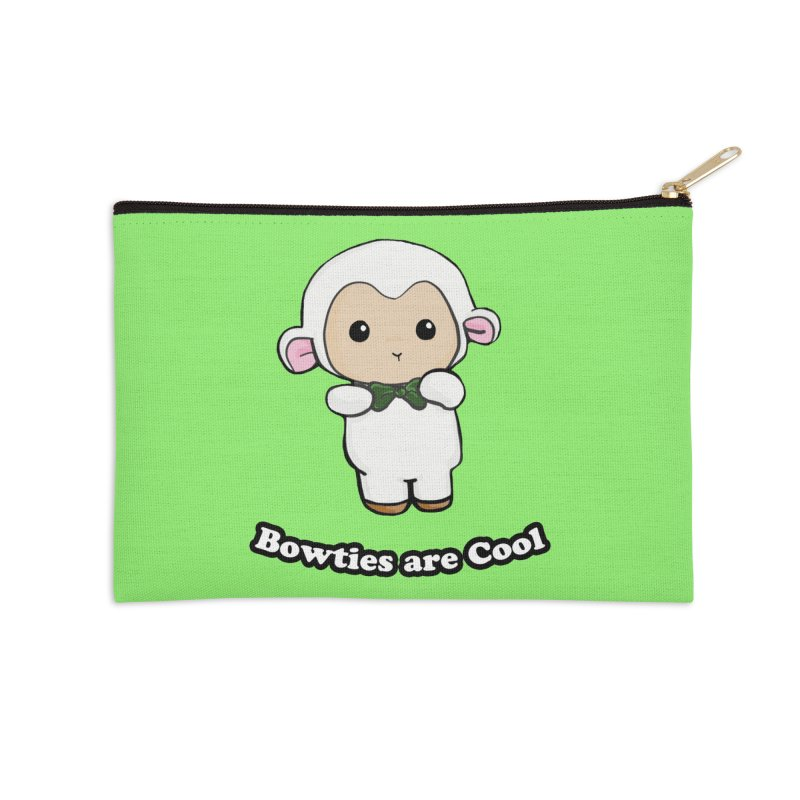 Lambie's Bowtie Accessories Zip Pouch by Dino & Panda Inc Artist Shop