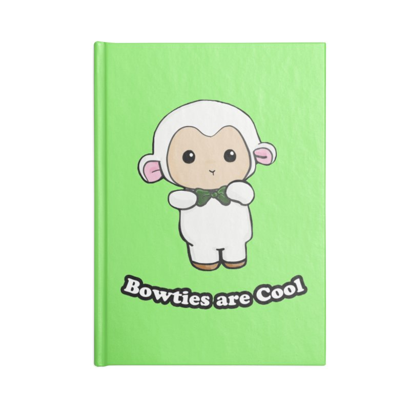 Lambie's Bowtie Accessories Lined Journal Notebook by Dino & Panda Inc Artist Shop