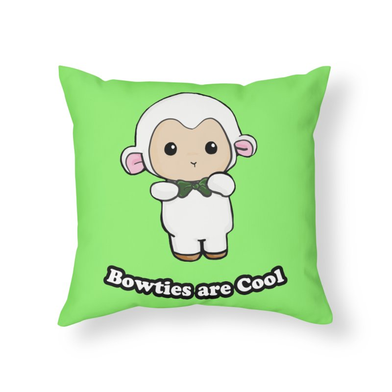 Lambie's Bowtie Home Throw Pillow by Dino & Panda Inc Artist Shop