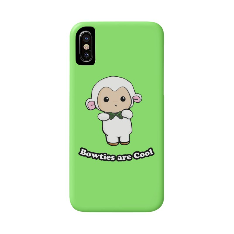 Lambie's Bowtie Accessories Phone Case by Dino & Panda Inc Artist Shop