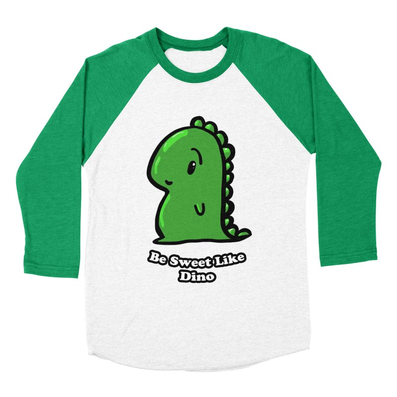 Be Sweet Like Dino in Women's Baseball Triblend Longsleeve T-Shirt Tri-Kelly Sleeves by Dino & Panda Inc Artist Shop