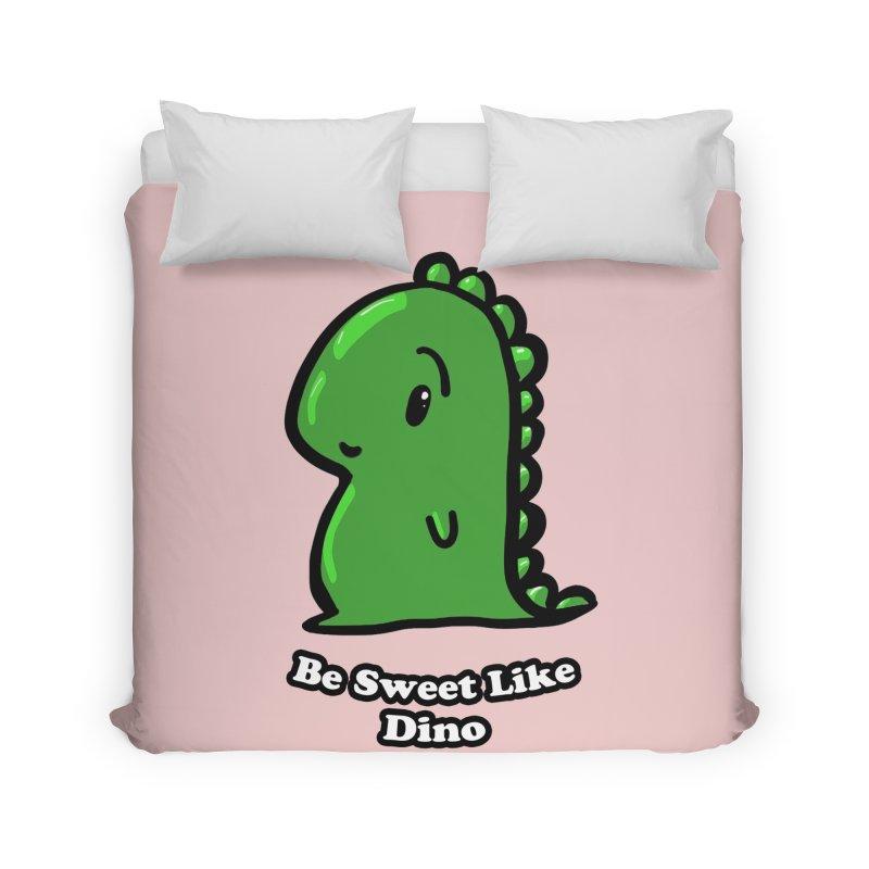 Be Sweet Like Dino Home Duvet by Dino & Panda Inc Artist Shop