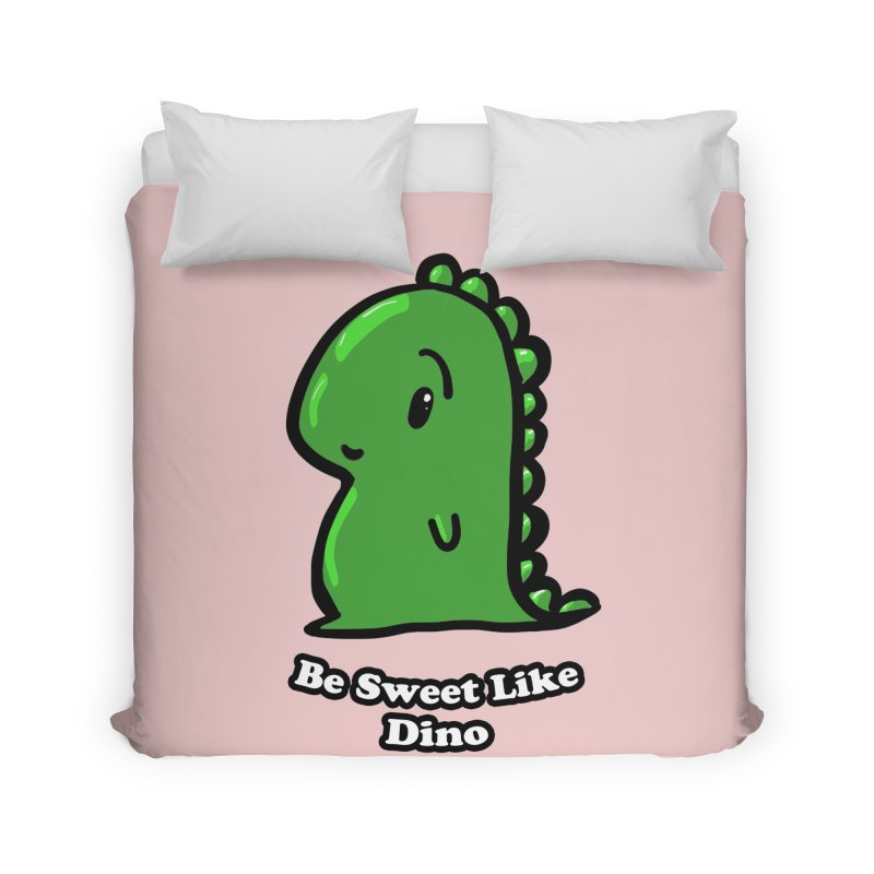 Be Sweet Like Dino Home Duvet by Dino & Panda Inc Artist Shop