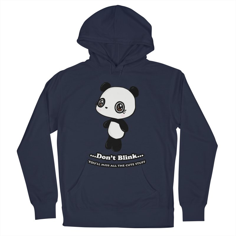 Don't Blink Men's French Terry Pullover Hoody by Dino & Panda Inc Artist Shop
