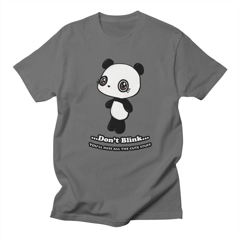 Don't Blink Men's T-Shirt by Dino & Panda Inc Artist Shop