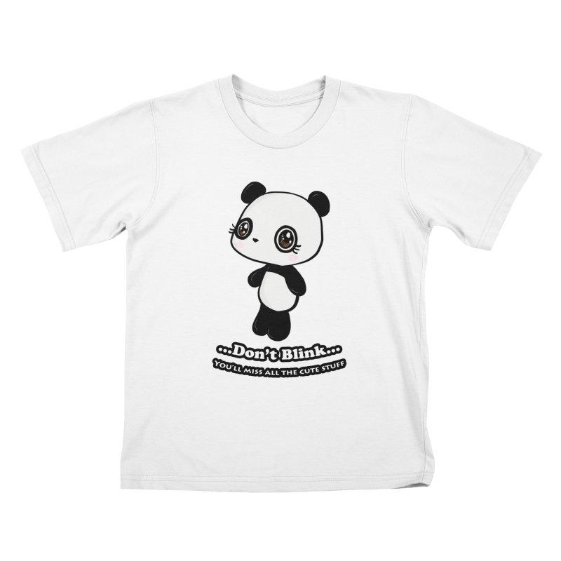 Don't Blink Kids T-Shirt by Dino & Panda Inc Artist Shop