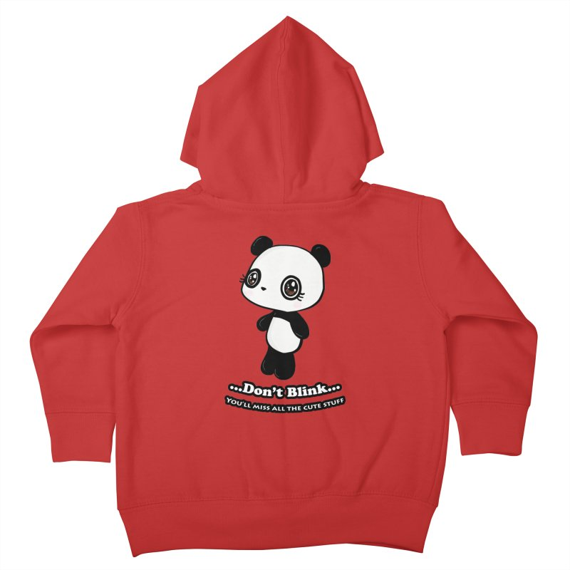 Don't Blink Kids Toddler Zip-Up Hoody by Dino & Panda Inc Artist Shop