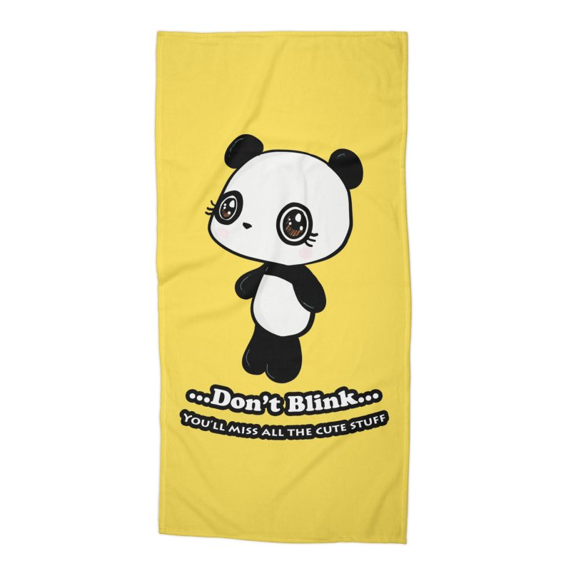 Don't Blink Accessories Beach Towel by Dino & Panda Inc Artist Shop