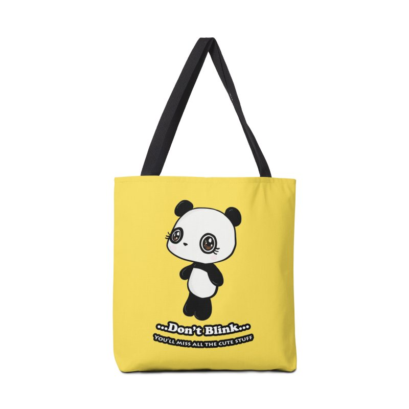 Don't Blink in Tote Bag by Dino & Panda Inc Artist Shop
