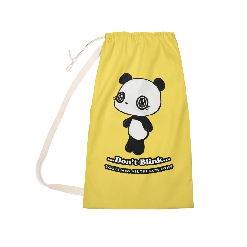 Don't Blink Accessories Laundry Bag Bag by Dino & Panda Inc Artist Shop