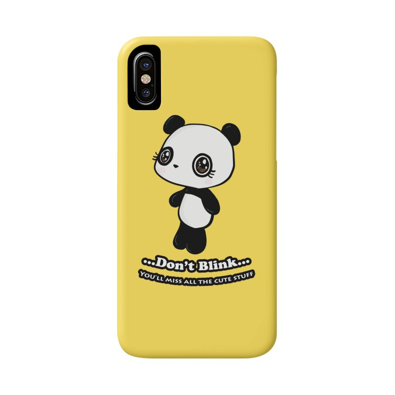 Don't Blink Accessories Phone Case by Dino & Panda Inc Artist Shop