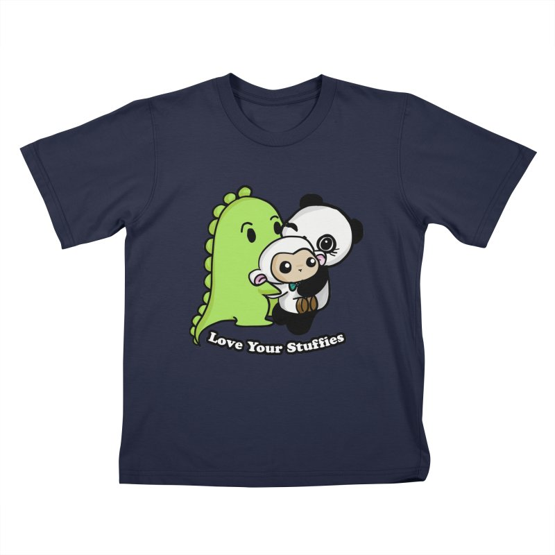 Love Your Stuffies Kids Toddler T-Shirt by Dino & Panda Inc Artist Shop