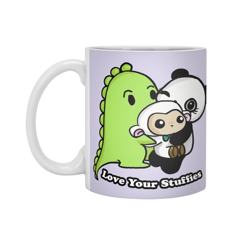 Love Your Stuffies Accessories Mug by Dino & Panda Inc Artist Shop